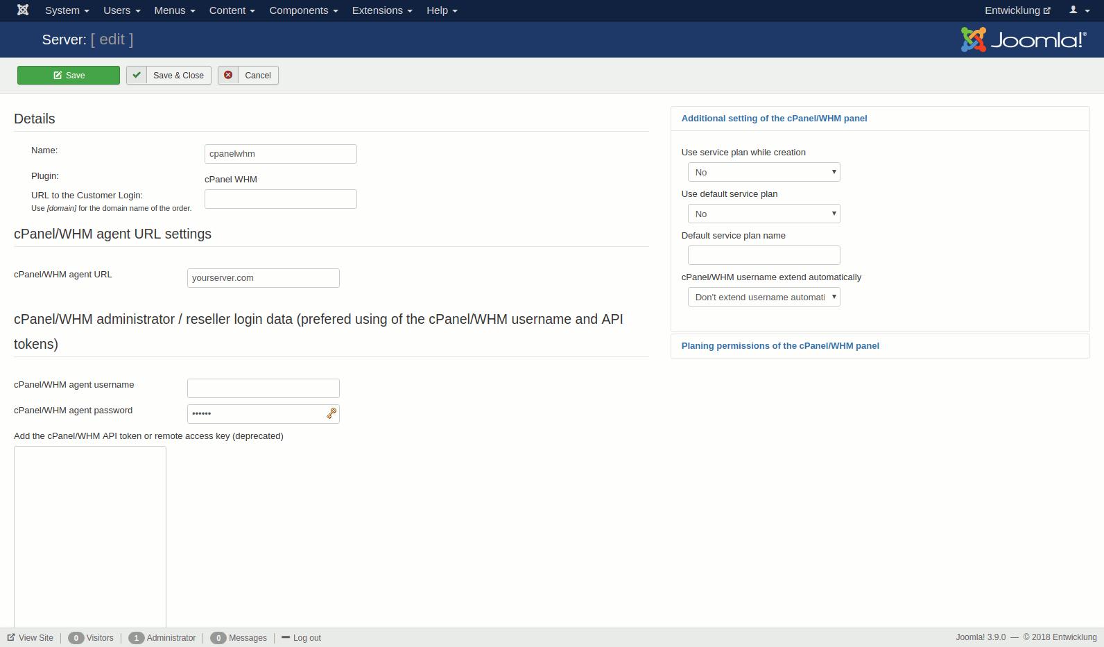 JoomISP - cPanel WHM Plugin